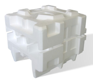 Expanded polystyrene foam dunnage.