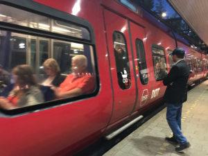 Metro station in Copenhagen.