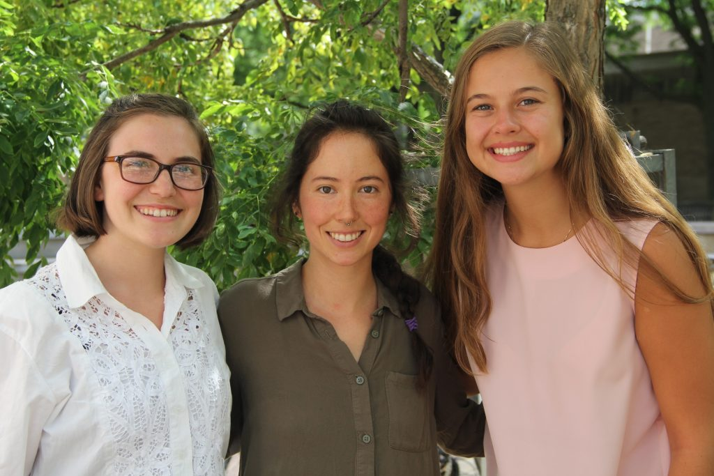 The students behind the project: Jackie Millonzi, Lauren Lucas, and Katie Piel.