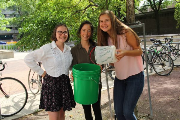Green Fund ambassadors pose with buckets.