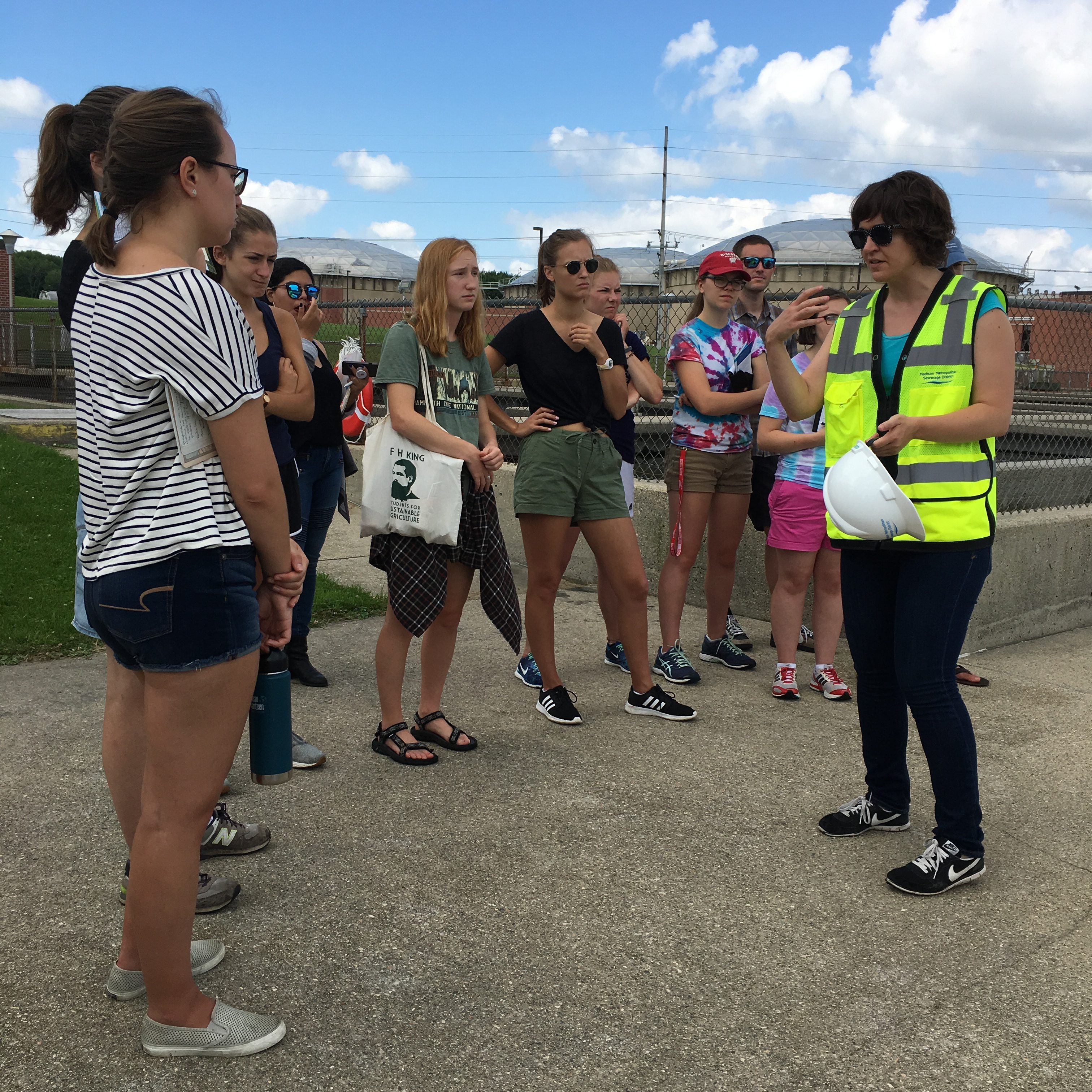 The Office of Sustainability Interns took a trip to the Madison Metropolitan Sewerage District (MMSD) earlier in the summer.