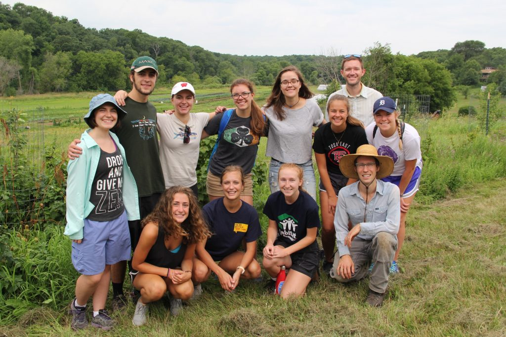 The Office of Sustainability interns visited the Farley Center this summer.