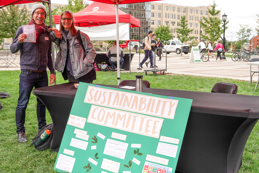 ASM Sustainability table at Sustain-a-Bash