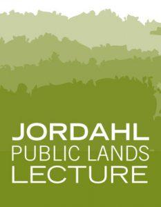 Jordahl Public Lands lecture poster.