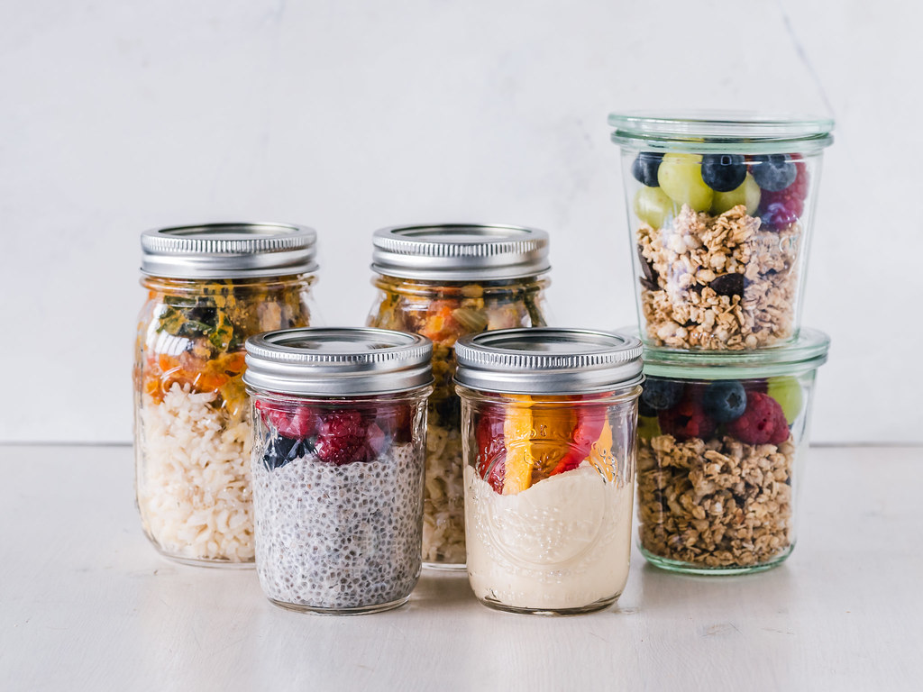 Meals prepared in mason jars