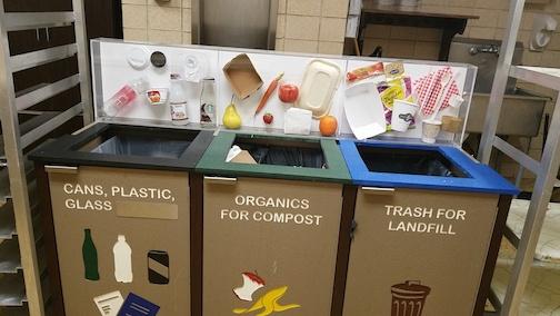 Recycling bins at Grainger