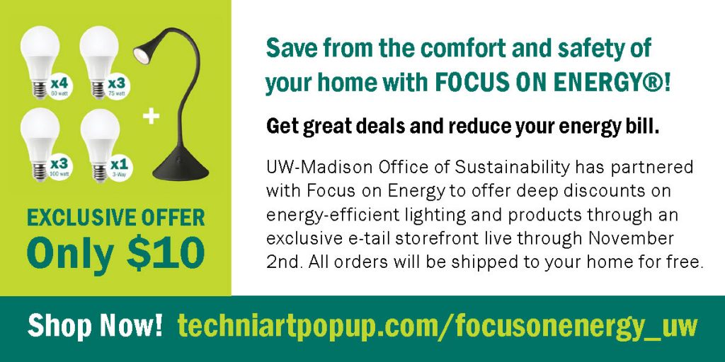 Focus on Energy description of collaboration with Office of Sustainability