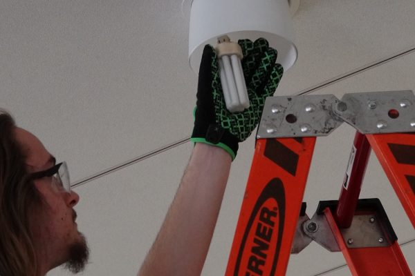 Light replacement in Gordon Dining & Event Center