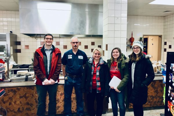 Green Fund students coordinate a project with dining staff