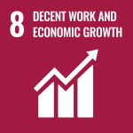 UN Decent Work and Economic Growth icon