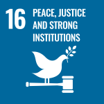 UN Peace Justice and Strong Institutions icon