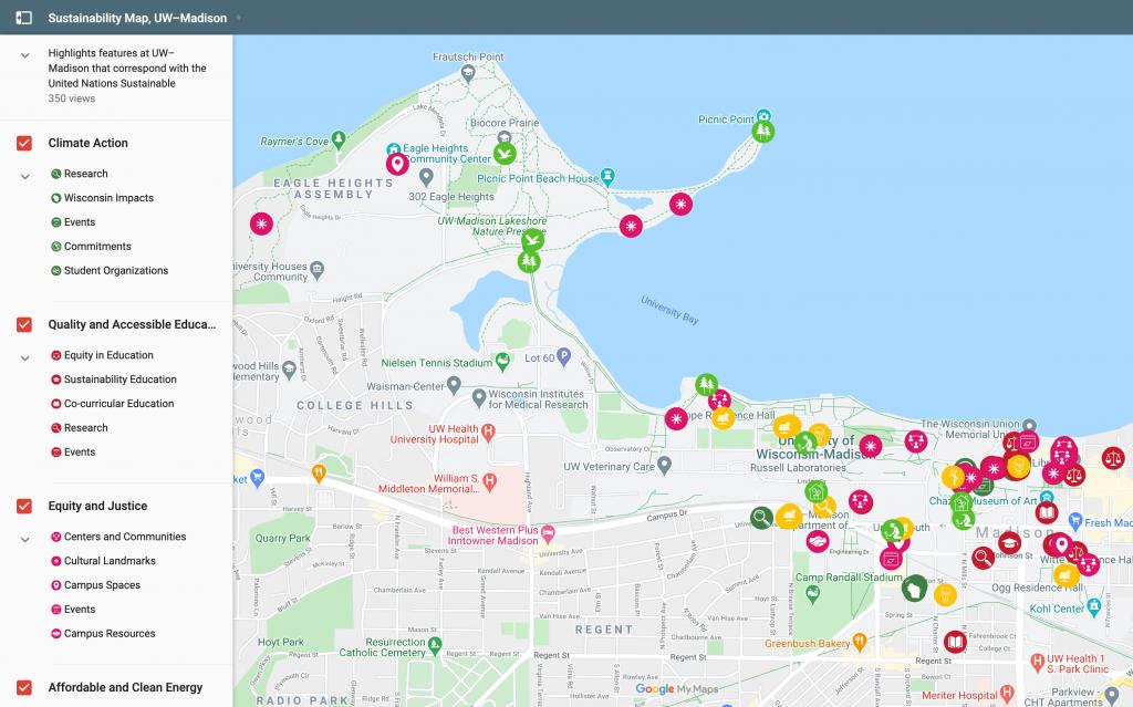 Campus sustianability map screenshot
