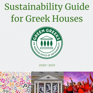 Sustainability Guide for Greek Houses document cover