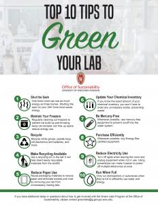 Green Labs tips sheet