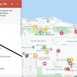 How to access sublayers in Google Maps screenshot