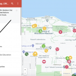 How to access layers in Google Maps screenshot