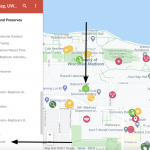 How to access features in a Google Map screenshot