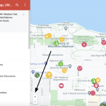 How to zoom into a Google Map screenshot